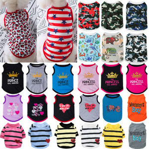 Various Pet Dog Clothes T-shirts Puppy Print Sweater Coat Chihuahua Vest Apparel