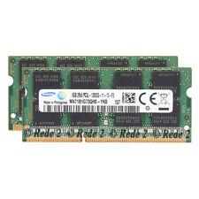 For Samsung 16GB 2X8GB PC3L-12800 DDR3L-1600MHz Non-Ecc Sodimm Laptop Memory RHN