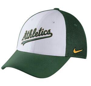 Oakland A's Athletics Nike Swoosh Flex Fit Dri-Fit Hat Cap MLB