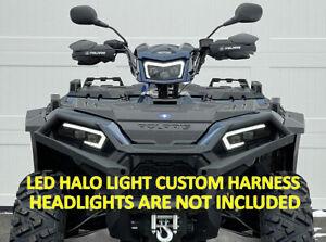 Polaris Sportsman LED light kit 2884859 custom harness w/ HALOS 450 570 850 1000