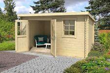 28mm Gartenhaus 400x250 cm Gerätehaus Schuppen Hütte Neu Holz Holzhaus Pultdach