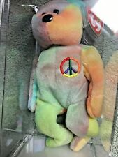 Rare, Museum Quality Authenticated Peace Bear Beanie Baby