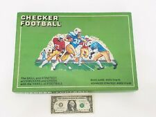 Checker Football - Vintage 1976 Football Themed Strategy Board Game