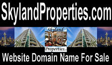 Skyland Properties .com  Domain Name for sale Sell Land Property Homes Condo URL