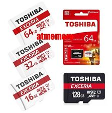 Toshiba 16GB 32GB 64GB 128GB Class 10 90MB/s Micro SD SDHC SDXC lot Memory Card