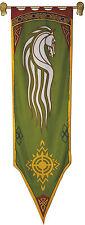 ROHAN Banner - Herr Der Ringe Fahne offizielle . Replica  56x196 cm mit Holz