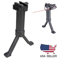 US Tactical Vertical Foregrip Fore Grip Bipod 20mm Picatinny Weaver Rail Mount