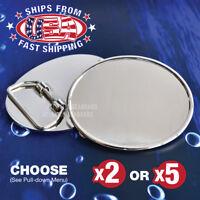 Oval Belt Buckle-Blank- DIY - Polished Silver Tone - 2x or 5x