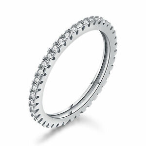 Solid 925 Sterling Silver Vittore Ring with Crystal