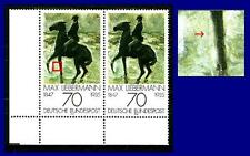 987 II ** (Max Liebermann) Paar mit Vergleichsstück, postfrisch