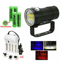 Underwater 14-18LED LED Photography Video Scuba Diving Flashlight Torch Lamp