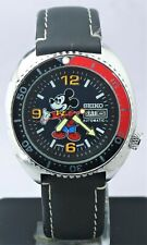 Rare Seiko Diver's Mickey Mouse Dial 17 Jewels Day & Date 6309 Wrist Watch Japan
