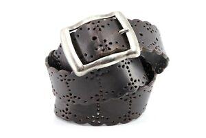 FOSSIL Brown Genuine Leather Belt Size L BT2427
