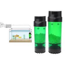 Aquarium Fluidized Moving Bed Filter Bubble Bio Media Filter Fish Tank + Sucker