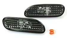 1995-1999 Mitsubishi Eclipse Clear Bumper Side Marker Lights in SMOKE Lens Pair