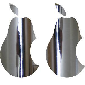 2 Aufkleber 10cm chrom Birne Apple verarsche Tablet Laptop Auto 4061963039168