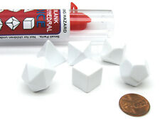 Polyhedral RPG 6-Dice Set ~14 to 19mm Tall - Blank White