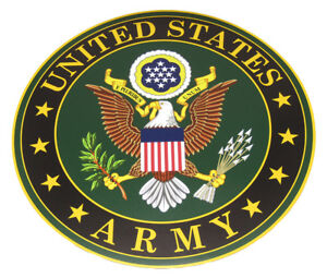"U.S. Army Eagle Green Circular 12"" Inch Magnet (Car / Fridge / Other)"