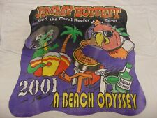 Rock T Shirt Authentic Vintage Jimmy Buffett ~ 2001 A Beach Odyssey Tour ~ Xl