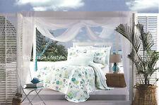 ☆ TROPICAL FISH ☆ Twin Quilt CYNTHIA ROWLEY Beach House Seashell Coastal Blue