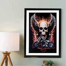 5D Motorcycle Skull Diamond Embroidery Painting Cross Stitch Craft Home Decor