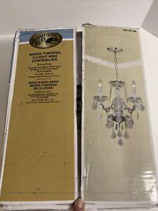 Hampton Bay Maria Theresa 3-Light Chrome and Clear Acrylic Mini Chandelier