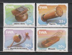 SWA SOUTH WEST AFRICA 1985 - Traditional Musical Instruments SG 451/4 MNH MUSIC