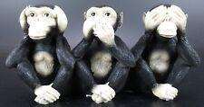 Affe Schimpanse 3er Monkey Affen der Weisheit,17 cm Poly Figur