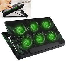 MoKo 6 Fans Laptop Cooler, Notebook Cooling Pad Adjustable Speed Cooler Radiator
