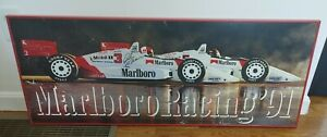 """1991 Marlboro Racing Indy Car Framed Signed Poster Rick Mears 41"""" x 16.5"""""""