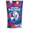AFL Wall Flag Cape - Western Bulldogs - 150cm x 90cm - Steel Eyelet For Hanging
