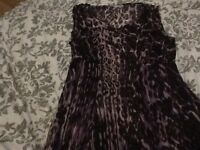 Women's Size 12 Per Una Marks & Spencers Purple Animal Print Dress