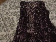 Women's Size 12 Per Una Marks & Spencers Purple Animal Print Dress