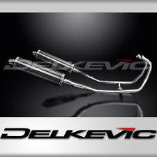 "Kawasaki GPZ500S EX500 Full 2-2 Exhaust 18"" Carbon Muffler 87-04 05 06 07 08 09"