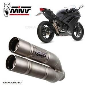Exhaust KAWASAKI NINJA 300 2013 2014 Double Gun MIVV Titanium RC