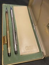 VINTAGE✨COLLECTABLE 10 K GOLD FILLED CROSS PEN SET✨American✨signed✨ORIINAL BOX✨