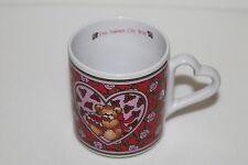 "Lucy And & Me Teddy Bears Rose Mug ""I'm Sweet On You"" Enesco 1987 Lucy Rigg"