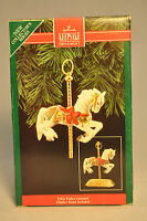 Hallmark: Tobin Fraley - Carousel Horse & Display - Series 1st Classic Ornament