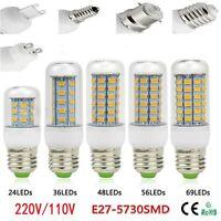 Energía SMD 5730 Bulbo De La Base E27 Lámpara De Maíz LED 24/36/48 Cuentas
