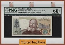 TT PK 103c 1983 ITALY BANCA D'ITALIA 2000 LIRE PMG 66 EPQ GEM UNCIRCULATED!