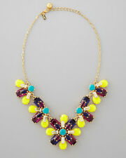 KATE SPADE NEW YORK RARE KALEIDOSCOPE FLORAL FLOWER JEWELED NECKLACE EXQUISITE