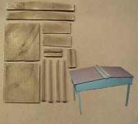 P&D Marsh N Gauge N Scale M60 Steel side skirt canopy building - single bay kit
