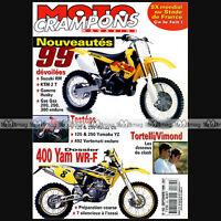 MOTO CRAMPONS N°162 HONDA CR 125 250 XR R YAMAHA 400 WR SEBASTIEN TORTELLI 1998