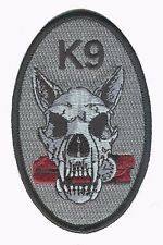 K9 black canine dog skull bomb detection police DHS Homeland Security patch