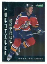2001-02 Parkhurst 318 Stephen Weiss Rookie