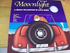 MOONLIGHT A GREAT LOVE SONGS  LP PHIL COLLINS PHD BLONDIE LOU REED F.R.DAVID