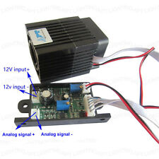 Analog signal DC12V 532nm 200mW green laser module + Focusable continuous work