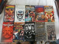 Lot of 10 WRESTLING VHS WWF WWE WCW ECW