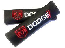 Carbon Fiber Seat Belt Cover Pad for Dodge Ram Challenger Charger Durango