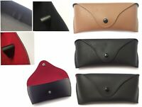 Unisex Luxury Leather Sunglasses Case Soft Protector Retro Reading Glasses Case